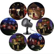 12 узоры лазер проектор Рождество Снежинка Открытый Водонепроницаемый светодиодный Диско свет Домашний сад Звездный свет крытый украшения