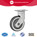 Plate Swivel TPR Medical Casters