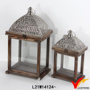 Antike Vintage Rechteck Dekorative Hölzerne Kerze Laterne