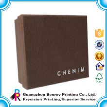 Guangzhou factory high quality custom elegant logo design printing handmade paper chocolate boxes