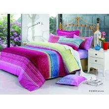 2014 новый роскошный мягкий простой элегантный пользовательский дизайн 100% хлопок реактивных печатных двуспальная кровать обложка множество