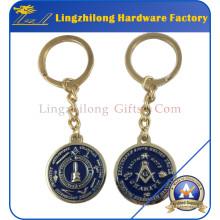 Porte-clés en métal promotionnel de logo maçonnique