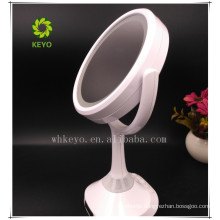 Double sides and plastic led makeup lighted makeup mirror magnifying makeup mirror with led lights bluetooth speaker