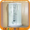 Painel de vidro pintado branco com chuveiro simples (ADL-8905)