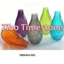 Venda quente coloridos baratos vasos de vidro da flor