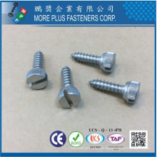 Made in Taiwan Stainless Steel 18-8 SS M12 Passivated Slotted Drive Knurled Thumb Screws