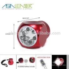 Aluminium 6 LED Licht Schlüsselbund