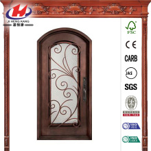 Full Lite Painted Iron Prehung Front Door