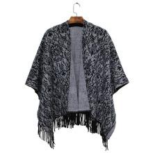 Женская мода акриловый Сплетенный Пейсли Жаккардовые зима бахромой шаль (YKY4506)