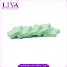 Custom wholesale beauty supplier green star shape nr latex sponges