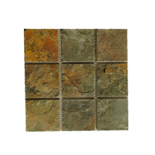 Rusty Natural Slate Stone Mosaico Azulejos de la pared