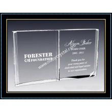 Premio de placas de libro abierto de cristal de 8 pulgadas (NU-CW700)