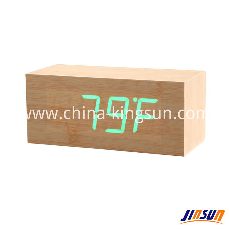 Wood Led Clock 106 18