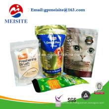 Saco de plástico com alimentos para alimentos para animais de estimação