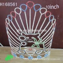 .New Designs Barato Rhinestone Crown custom pageant coronas y tiara
