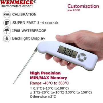 Termómetros digitales plegables impermeables para carne