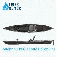 Пластмассовые лодки для рыбалки длиной 4.3 м для начинающих и любителей рыбаков