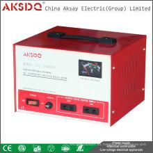 Venta al por mayor Full Copper Hospital Uso Monofásico 50Hz 220V Salida 1KW Servo Motor Estabilizador Automático de Voltaje Yueqing