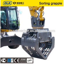 Excavator rotary sorting grab grapple for 12-16tons carrier