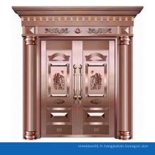 Porte d'acier inoxydable en cuivre de luxe d'occasion portes extérieures à vendre