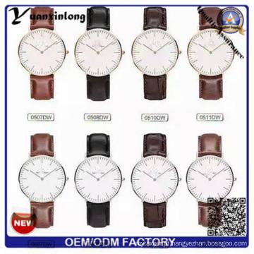 Moda Japão YXL-654 Movt qualidade couro italiano de cintas de relógios