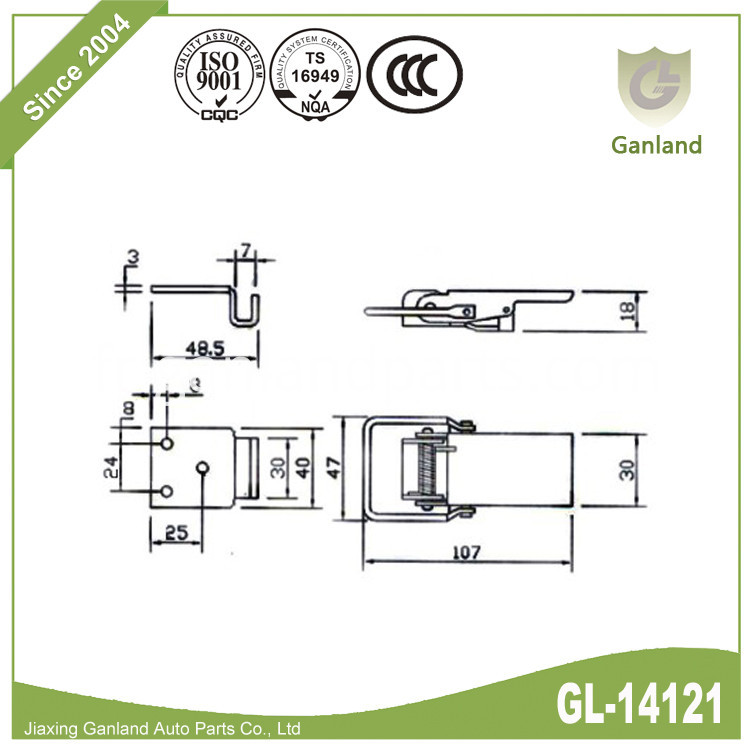 Toggle Fasteners Sheradised GL-14121