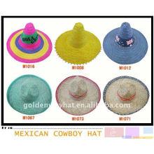 Обычная мода широкий brim сомбреро мексиканская шляпа