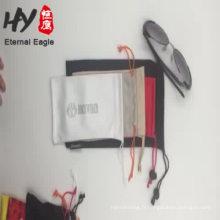 Poche de cordon de vente de bijoux en lin chaud avec logo fabriqué en Chine