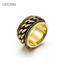 Punk Stainless Steel Mens Gold Rings Perhiasan Ring