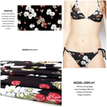 High-Stretch Polyester Flower Fruit Printing Fabric for Swimwear/ Dress
