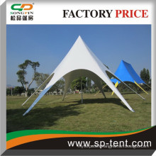 Aluminum frame PVC coated 10m star shade tent for 50 people