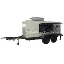 Generador diesel móvil del acoplado 180kw con el motor de Perkins