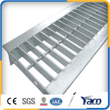 Steel material polymer U shape drain trench with steel grating