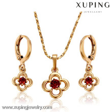 62478-Xuping Elegant Design Bright Party Jewelry Sets Wholesale