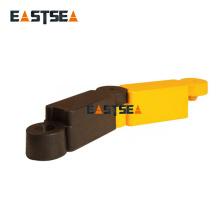 Separador de carretera de caucho negro y amarillo de 400 mm de longitud