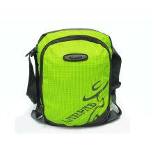 Green Shoulder Nylonsports Bag For Men / Women / Children Outdoor