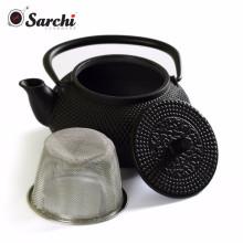 Conjunto de pote de chá de ferro fundido com conjunto Trivet e Copos