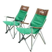 Peso ligero de aluminio plegable silla de Camping al aire libre