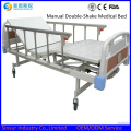 Hospital Ward General Use Manual Double Shake Medical Beds
