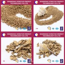 Alimento de China al por mayor de grano seco de cáscara de nuez para el tratamiento de lodos de aceite