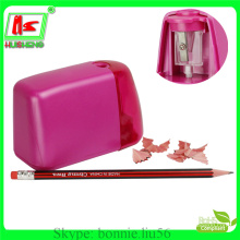 wholesale battery power pink color plastic cheap pencil sharpener