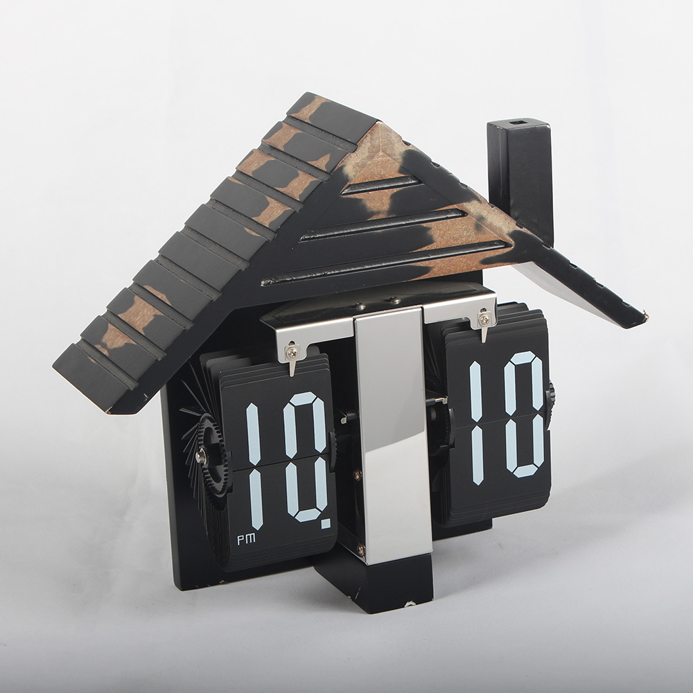 Flip Wooden Clocks
