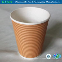 10 oz Ripple Wall Paper Cup avec couvercle