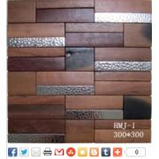 Alta calidad cocina madera azulejo de mosaico de entrega rápida