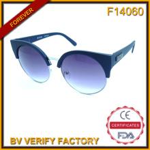 F14060 Fashion métal avec lunettes de soleil en plastique comme les derniers produits sur le marché
