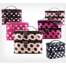 Fashion Double Layer Zip Cosmetic Organizer Bag (WH8203)