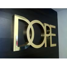Carteles metálicos personalizados Espejo con letras terminadas (ID-14)