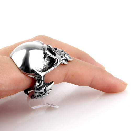 Halloween Tooth decay skull ring for boyfriend