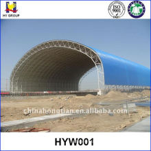 Prefab space frame coal storage shed