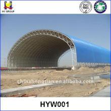 Hangar de estrutura de aço pré-fabricado